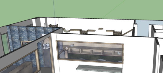 Sneak peak into the final design of the cat lounge.